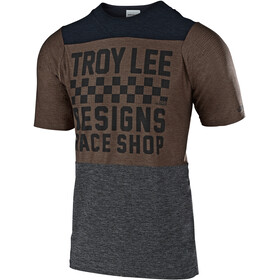 Troy Lee Designs Skyline Air SS Jersey Herren checkers/heather black/heather light moka
